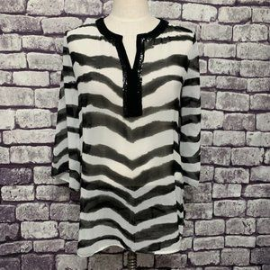 Chico's NWT Sheer Zebra Print Top Size Small